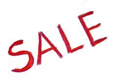 Parola rossa di vendita Fotografia Stock