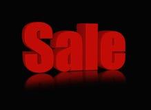 Parola rossa di vendita Fotografie Stock Libere da Diritti