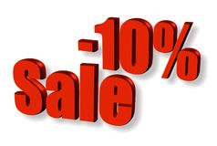 Parola rossa di vendita con ombra #2 illustrazione vettoriale