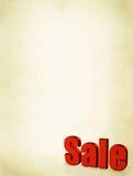 Parola rossa di vendita su priorità bassa sporca immagini stock