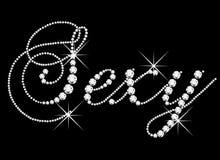 Parola sexy con i diamanti illustrazione vettoriale
