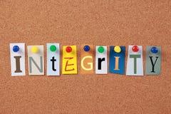 Parola singola di integrità Fotografie Stock Libere da Diritti