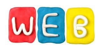 Parola WEB del form di alfabeto della plastilina Immagine Stock