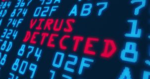 Parole alla moda cyber di sicurezza e di crimine illustrazione di stock