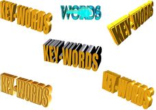 Parole chiavi in 3d Immagini Stock