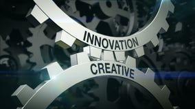 Parole chiavi creative, innovazione sul meccanismo di due ruote dentate Attrezzi royalty illustrazione gratis