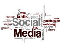 Parole chiavi sociali di media Immagine Stock