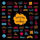 Parole colorate disegnate a mano della grande raccolta, slogan illustrazione di stock