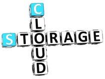 parole del cubo delle parole incrociate della nuvola di stoccaggio 3D Fotografia Stock Libera da Diritti