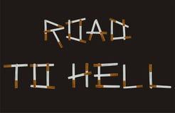 Parole delle lettere delle sigarette Immagine Stock