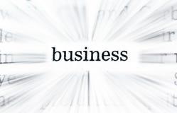 Parole di affari Immagini Stock Libere da Diritti