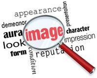 Parole di contegno dell'impressione di aspetto della lente d'ingrandimento di immagine illustrazione vettoriale