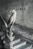 Parole di Fidel alle scale Immagini Stock