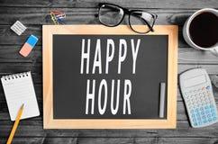Parole di happy hour Immagine Stock Libera da Diritti