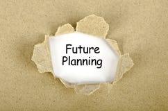Parole di progetto per il futuro scritte sull'illustrazione di carta lacerata illustrazione vettoriale