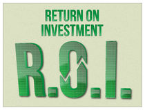 Parole di ROI Return On Investment Fotografie Stock