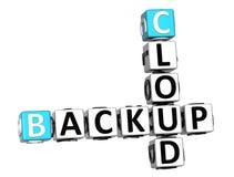 parole di sostegno del cubo delle parole incrociate della nuvola 3D Immagine Stock Libera da Diritti