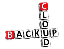 parole di sostegno del cubo delle parole incrociate della nuvola 3D Immagini Stock