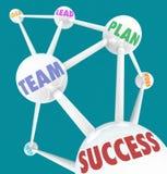 Parole di successo - sfere connesse Fotografia Stock