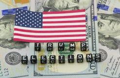 Parole di Trump di elezione fotografia stock