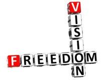 parole future del cubo delle parole incrociate di visione di libertà 3D Fotografia Stock