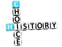 parole incrociate Choice di storia 3D royalty illustrazione gratis