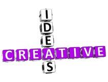parole incrociate creative di idee 3D illustrazione di stock