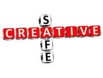 Parole incrociate creative sicure Fotografie Stock Libere da Diritti
