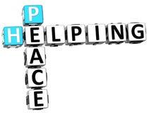 parole incrociate d'aiuto di pace 3D Immagine Stock
