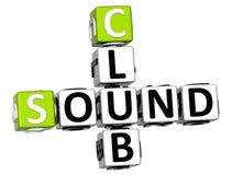 parole incrociate del club del suono 3D Fotografie Stock Libere da Diritti