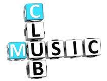 parole incrociate del club di musica 3D Illustrazione di Stock
