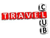 parole incrociate del club di viaggio 3D Fotografie Stock Libere da Diritti