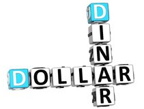 parole incrociate del dinaro del dollaro 3D Fotografie Stock