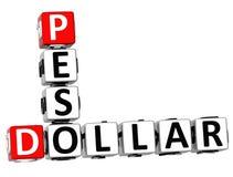 parole incrociate del peso del dollaro 3D Fotografia Stock