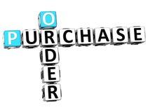 parole incrociate dell'acquisto di ordine 3D Fotografia Stock Libera da Diritti
