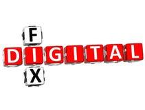 parole incrociate della correzione di 3D Digital Fotografia Stock Libera da Diritti
