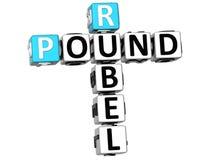 parole incrociate della libbra di 3D Rubel Fotografie Stock