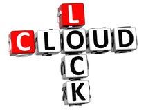 parole incrociate della nuvola della serratura 3D Fotografie Stock Libere da Diritti