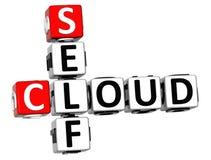 parole incrociate della nuvola di auto 3D Fotografia Stock Libera da Diritti