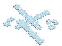 Parole incrociate di affari dalle fette di puzzle Fotografie Stock Libere da Diritti
