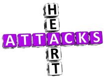 parole incrociate di attacchi di cuore 3D Fotografia Stock Libera da Diritti