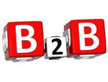 parole incrociate di business to business 3D Immagini Stock Libere da Diritti