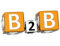 parole incrociate di business to business 3D royalty illustrazione gratis