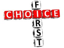 parole incrociate di 3D First Choice royalty illustrazione gratis