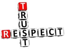 parole incrociate di fiducia di rispetto 3D Fotografia Stock Libera da Diritti