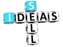 parole incrociate di idee di vendita 3D illustrazione vettoriale