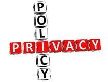 Parole incrociate di norme sulla privacy Fotografia Stock Libera da Diritti