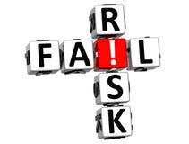 parole incrociate di rischio di credito 3D Fotografia Stock