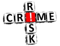 parole incrociate di rischio di crimine 3D Fotografia Stock