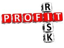 parole incrociate di rischio di profitto 3D Immagine Stock Libera da Diritti